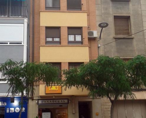 facha plaza Diputación Construcciones Morillo Barbastro
